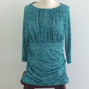 Ann Taylor Rusched 3/4 Stretchy Top